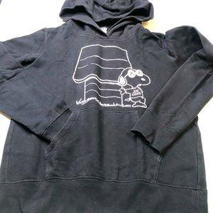 Uniqlo x Kaws x Peanuts Snoopy Black Hoodie Small